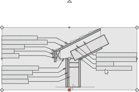 Selected CAD block
