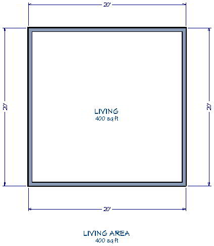 Displaying The Square Footage Of A Room