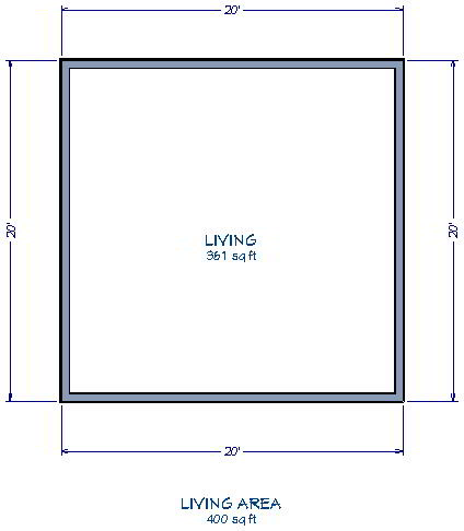 Displaying the square footage of a room for Square footage of a room