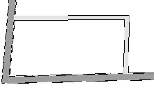 Off angle walls in a plan file
