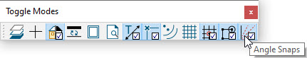 Toggle Mode toolbar showing Angle Snaps icon