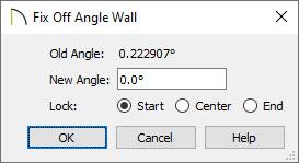 Fix Off Angle Wall dialog to set a new angle
