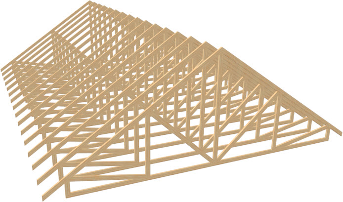 Perspective Full Overview of energy heel trusses