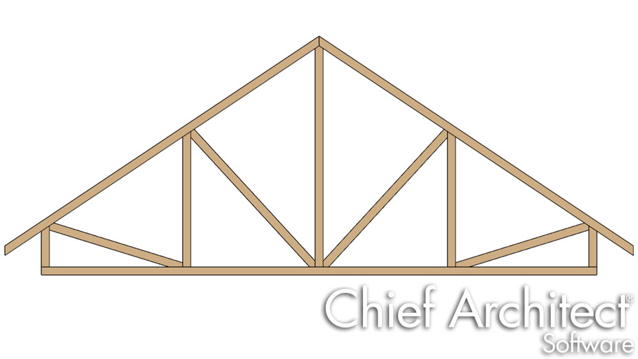 Truss with a raised heel