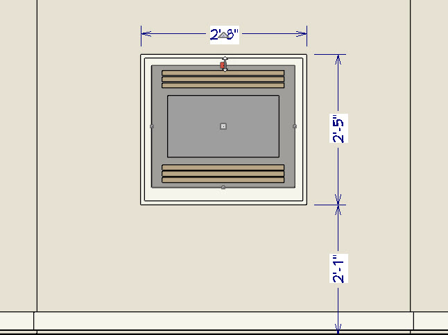Adjust size of the fireplace screen
