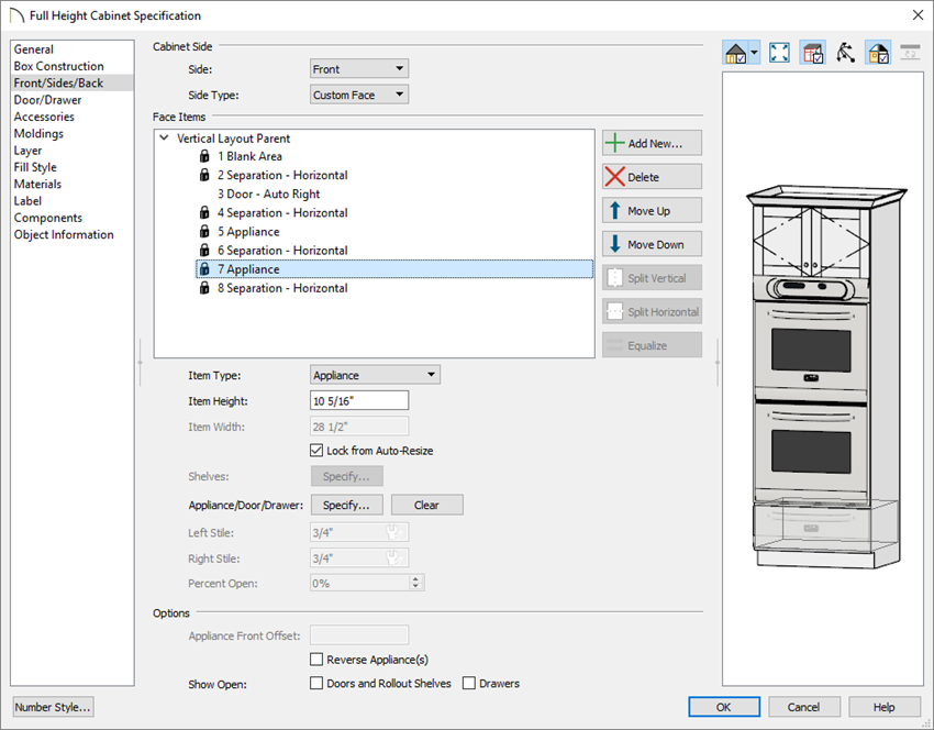 Inserting an additional appliance into the same cabinet