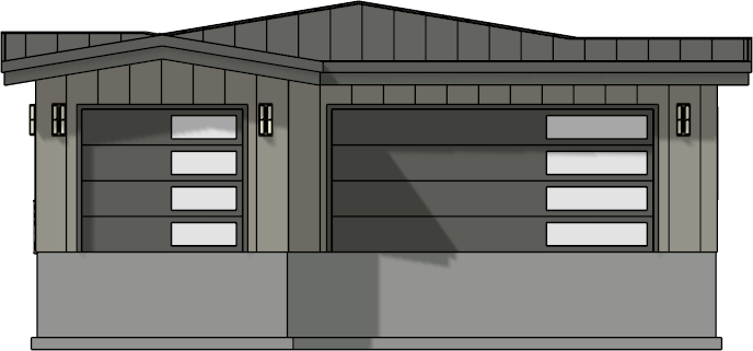 Section view displaying only the garage