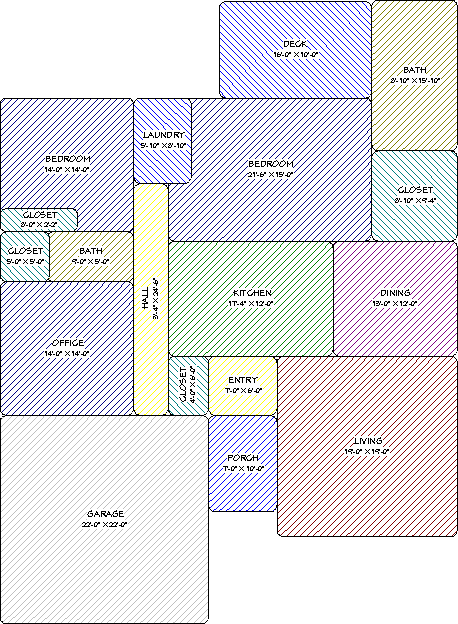 Space Planning rooms that have been moved and resized