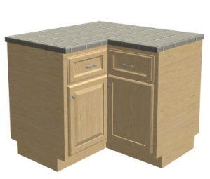 l shaped kitchen cabinet creating a corner cabinet 22419