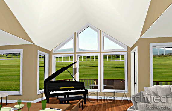 Vaulted ceiling gable roof for Cathedral ceiling definition