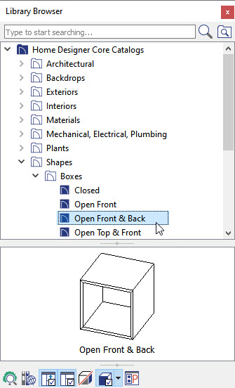 Using an Open Front and Back Box to Model HVAC