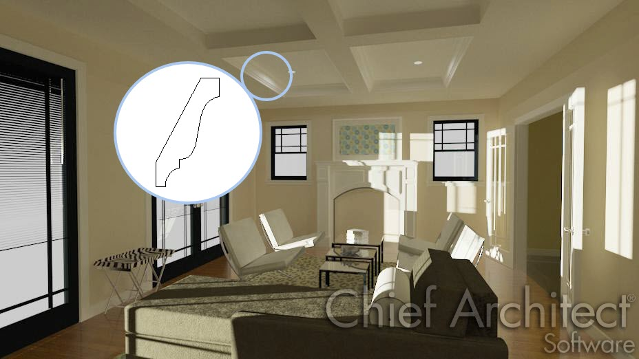 Draw a custom molding profile for use in your home design using Chief Architect.