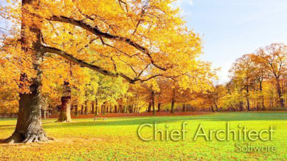 Custom Backdrop in Chief Architect of Autumn Trees