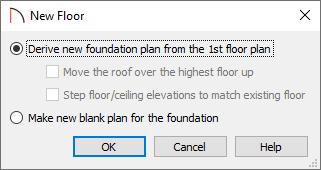 New Floor dialog
