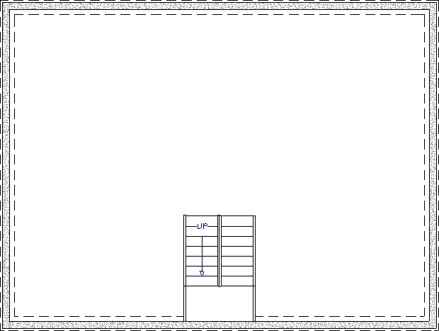 U-shaped stair placed on Floor 0
