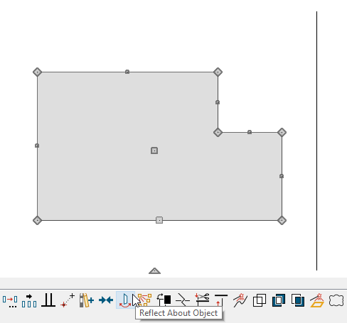 Click on the Reflect About Object edit tool after an object has been selected