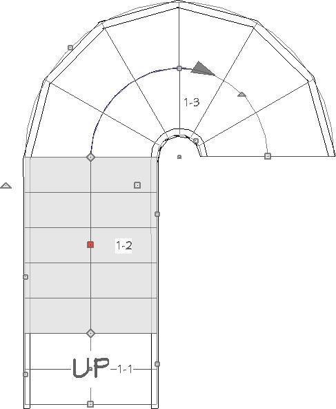 Multiple segments that are part of a single staircase