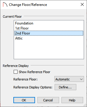 Change Floor/Reference dialog
