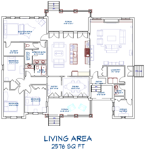 Living Area label at the bottom of the floor plan