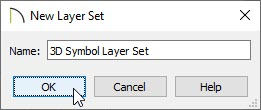 Specify a name for the newly created layer set