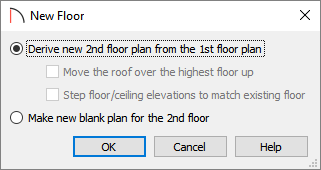 New Floor dialog where exterior walls can be replicated