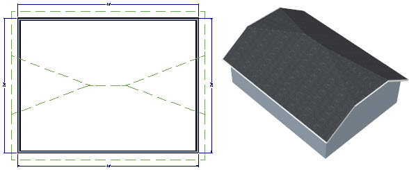 Half roof half roof house quang dam for Hip roof design software