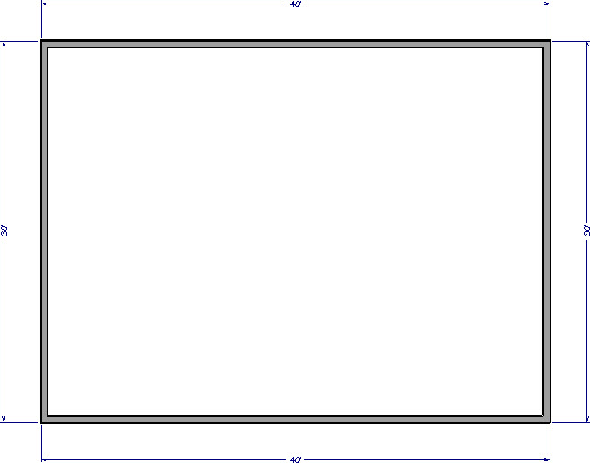 40' x 30' plan view of a structure