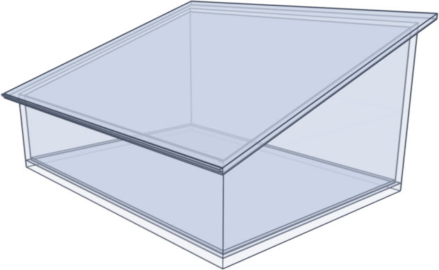 Shed roof glass rendering
