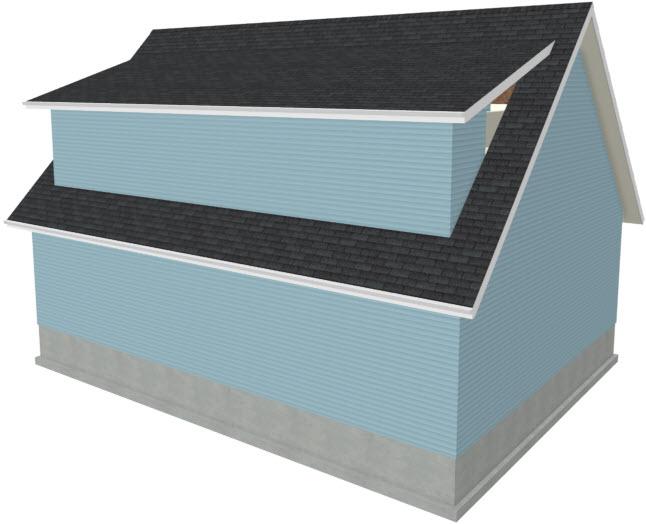 Gap in Exterior Dormer Walls