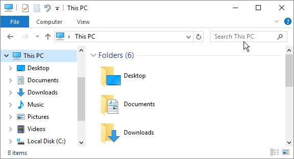 Windows file explorer window