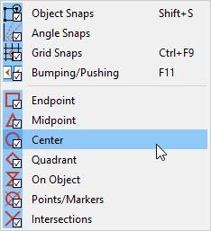 Snap Settings menu in Home Designer Pro