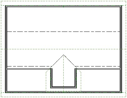 Floorplan view showing completed dormer with gable roof