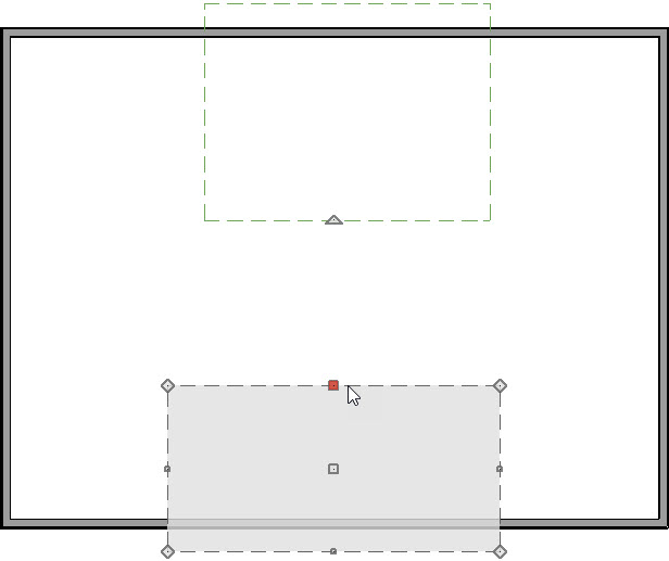 Selecting the top edge of the bottom roof plane