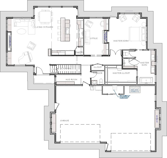 Exterior room is selected and highlighted