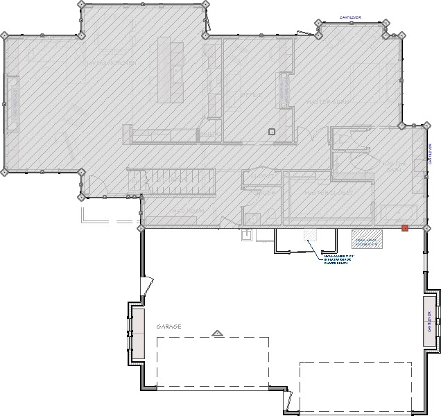 A Living Area Polyline was created from the exterior room