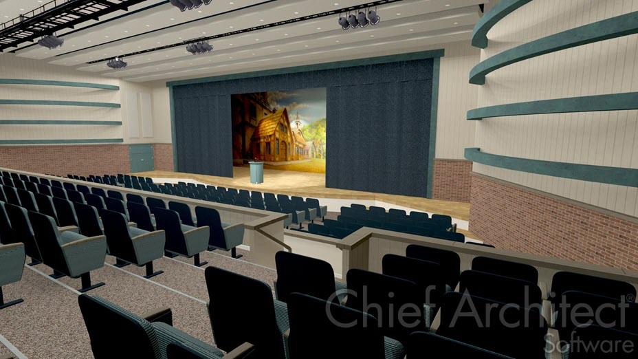 Stage in a theater