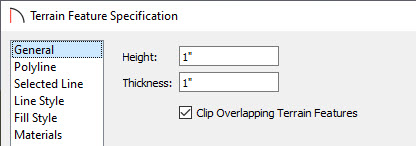 Check the Clip Overlapping Terrain Features box on the General panel