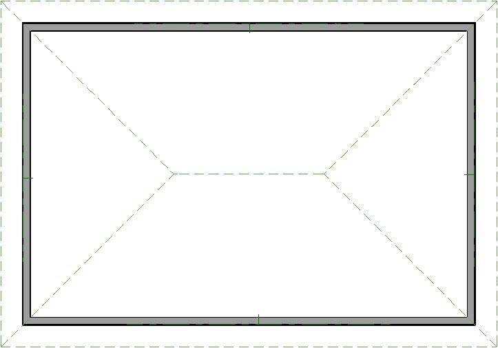 Hip roof created manually