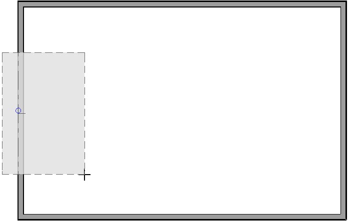 When drawing a manual roof plane, release the left mouse button to establish the stopping point or ridge