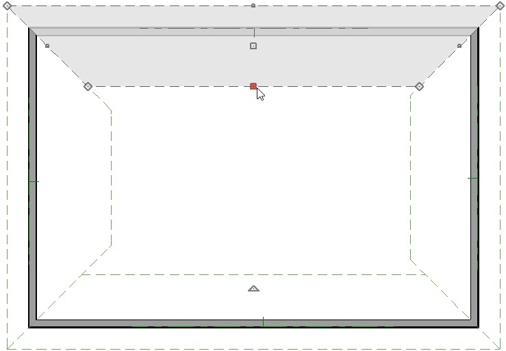 Selecting the ridge edge of a roof plane