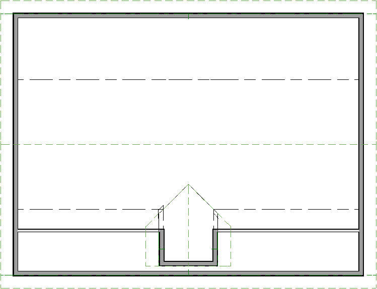 Floor plan view of finished manual dormer