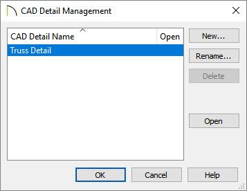 Find CAD details of framing in our management dialog