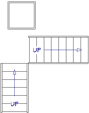 Placed a landing on the floor plan to modify into a winder