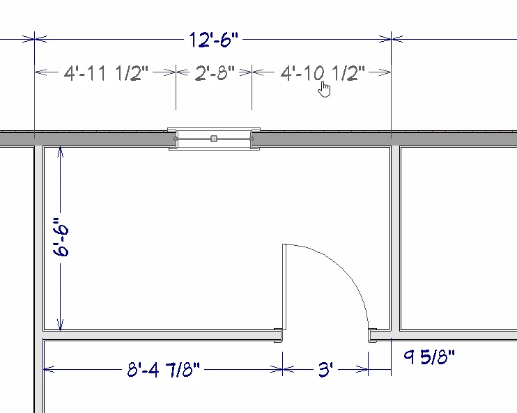 With the window selected we can use the dimensions on either side to accurately position it.