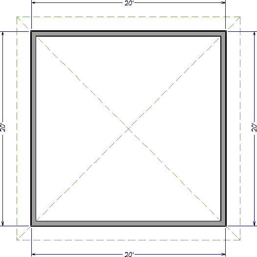 20' x 20' floor plan of a structure