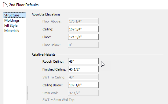 Change the Rough Ceiling value to the height you want for the clerestory