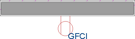 GFCI outlet placed onto a wall