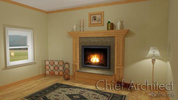 Creating a Mantel Using Crown Molding