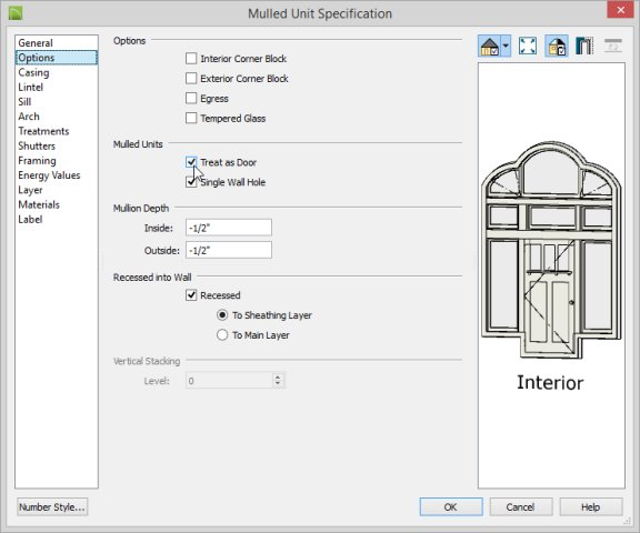 Chief Architect Premiere X4 Training Videos: Creating A Mulled Door And Window Unit