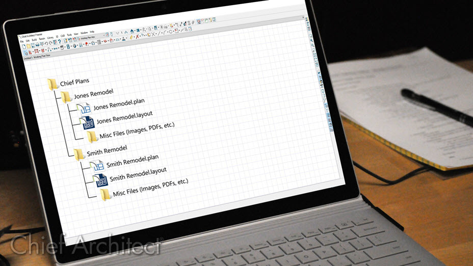Plan and layout file organization